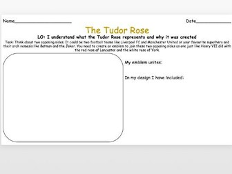 Tudor Rose Activities