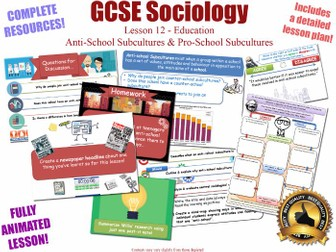 Anti-School Subcultures - Sociology of Education L12/20 [ WJEC EDUQAS GCSE Sociology ] Counter Sch..