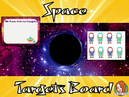 Outer Space Classroom Targets Board