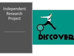 Independent research project guidelines template (basic)  -differentiation tools