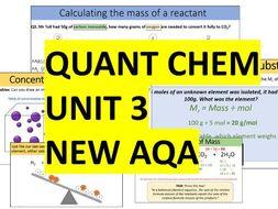 AQA Combined Science Trilogy - Chemistry Whole Unit 3 - Quantitative Chemistry (Quant Chem)