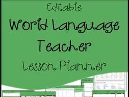 Editable Lesson Plan Template Calendar Agenda World Language Teachers