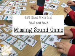 RWI Set 2 and Set 3- MISSING SOUND GAME- Read Write Inc- PHONICS
