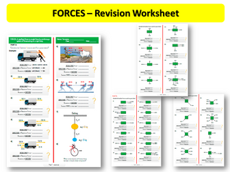 Forces - (Revision Worksheet 2)