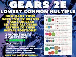 MATHS / PHYSICS - GEARS 2E - LOWEST COMMON MULTIPLE