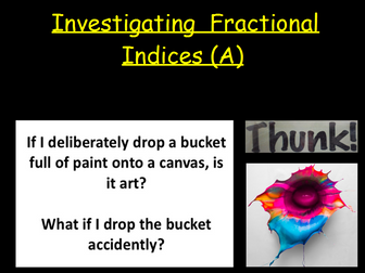 Indices/ Fractional Indices/ Surds