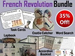 French Revolution Task Cards and Activities Bundle