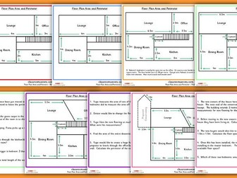 Differentiated Area and Perimeter Floor Plan Challenge