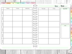 Teachers Planner 2019-2020 (6 period) Digital Planner for GoodNotes App or similar