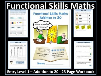 Functional Skills Maths - Entry Level 1 - Addition to 20