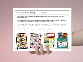 D&T cover work / cover lesson - Design a DIY shop flyer - 1hr activity