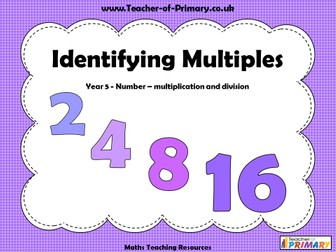 Identifying Multiples - Year 5