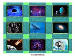 Space & Astronomy Cards 4 Pages = 36 Cards