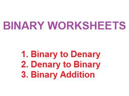 Binary Conversions workbook