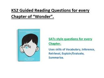 """Wonder"" Guided Reading Questions KS2"
