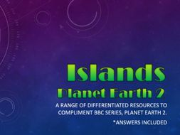 Planet Earth 2 : Islands : Activity pack