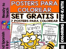 Coloring Posters in Spanish - Free Set 1