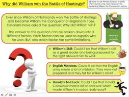 Why did William win the Battle of Hastings