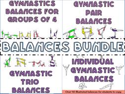 Gymnastics individual, pair and group balances bundle