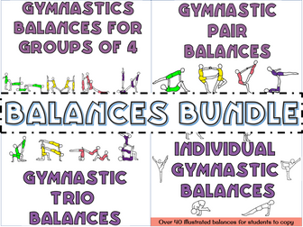 Gymnastics individual, pair and group balances bundle