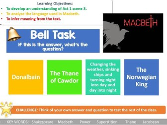 Macbeth Act 1 Scene 3 lesson