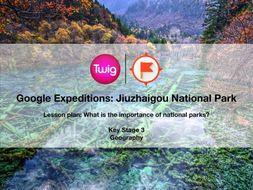 Google Expeditions lesson plan: Jiuzhaigou National Park