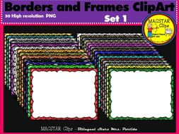 Borders and Frames Clipart Set1 MACSTAR Clips Partida
