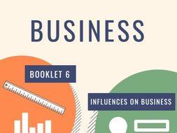 OCR GCSE Business (9-1) Unit 6: Influences on Business