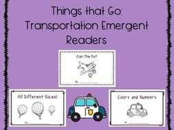 Transportation emergent readers - things that go