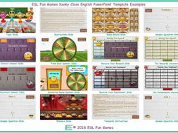 Kooky Class English PowerPoint Game Template FREE READ ONLY SHOW