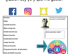 Spanish Upper Level All about me activity- interest inventory