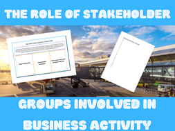 The role of stakeholder groups involved in business activity