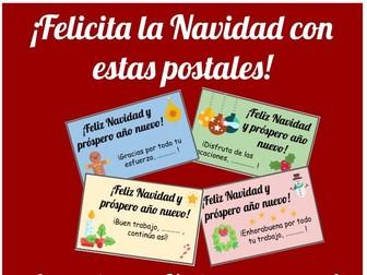 Spanish Christmas cards. Postales de Navidad. Reward cards Spanish