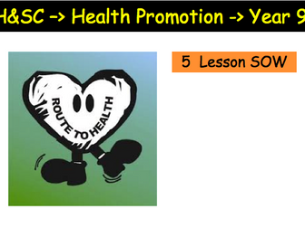 Health Promotion SoW Introduction to Health and Social Care Edexcel Unit 3 and 4