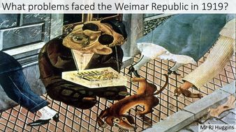 What challenges faced the Weimar Republic in 1919?