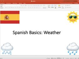 spanish weather powerpoint by amywx teaching resources tes