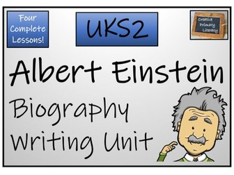 UKS2 Literacy - Albert Einstein Biography Writing Activity
