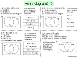 Venn diagrams worksheets for gcse 9 1 maths by mathspaduk teaching venn diagrams worksheets for gcse 9 1 maths recommended tes picks ccuart Choice Image