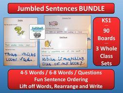Jumbled Sentences KS1