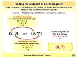 Midpoint of a Line Segment KS4