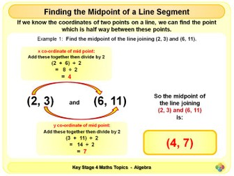 Midpoint of a Line Segment KS4