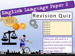English Language Paper 2 Quiz