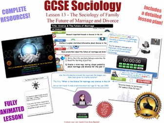 The Future of Marriage and Divorce - Sociology of Families - L13/20 [ AQA GCSE Sociology - 8192] KS4
