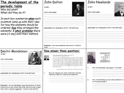 Ks4 periodic table historical development teacher ppt includes ks4 periodic table historical development teacher ppt includes student ws as ibookread Download