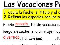 GCSE Spanish - Module 1 - Las Vacaciones