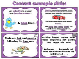 Adjectives are Awesome - PowerPoint and worksheets