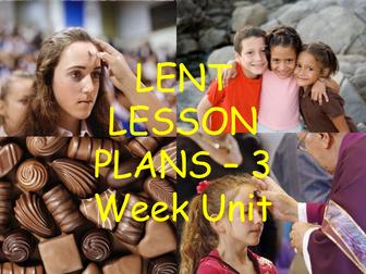 Lent Lesson Plans - three week unit