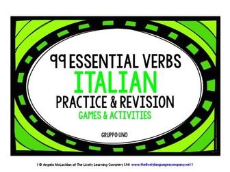 ITALIAN VERBS (1) - PRACTICE & REVISION - 99 VERBS