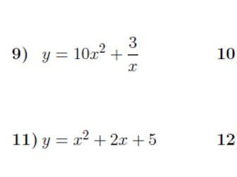 differentiation exercises with answers pdf