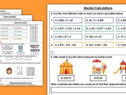 Year 6 Mental Calculations Autumn Block 2 Maths Homework Extension